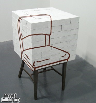 art chair design illusion