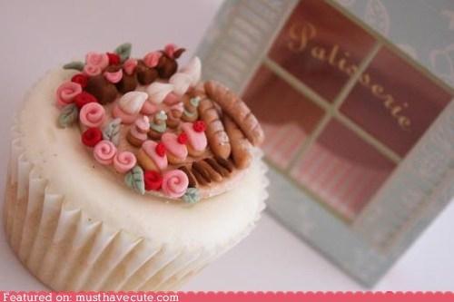 cupcake epicute fondant miniature pastries sweets - 6045273088