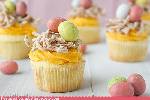 candy chocolate cupcakes eggs frosting nests - 6045280512