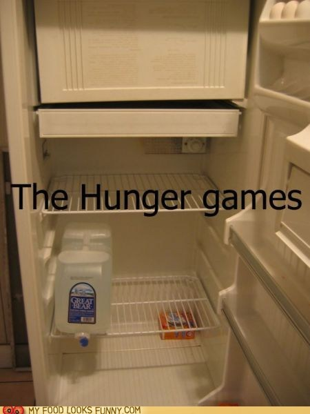 Death,eggs,empty,fight,fridge,hunger games