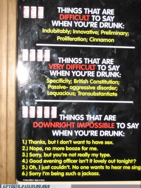 drunk words difficult funny - 6045338112