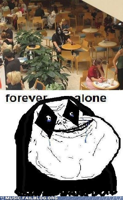cafeteria corpse paint forever alone metal school - 6045342976