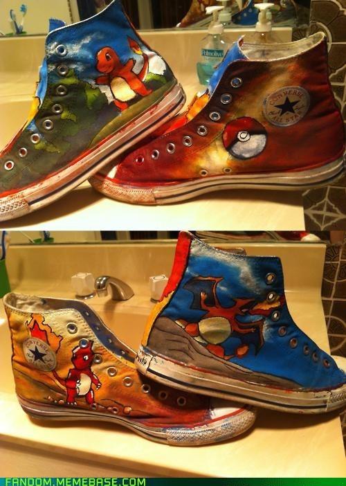 charmander evolutions Fan Art Pokémon shoes - 6045528064
