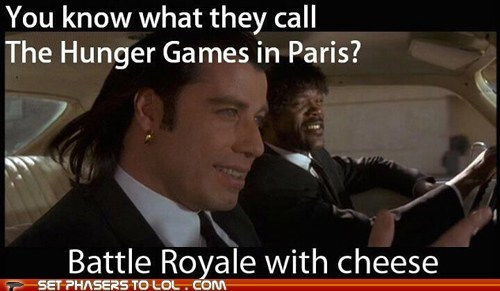 battle royale,best of the week,cheese,hunger games,john travolta,paris,pulp fiction,Samuel L Jackson