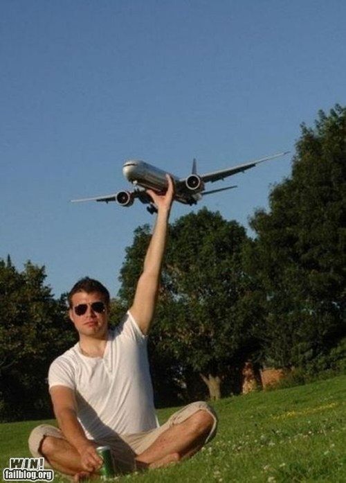 airplane park perspective photography - 6045655296