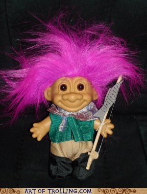 april fools fishing Troll Doll