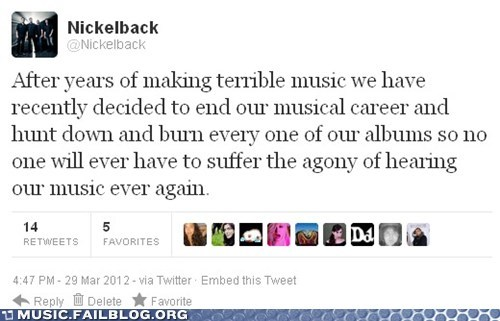 nickelback tweet twitter - 6045805312