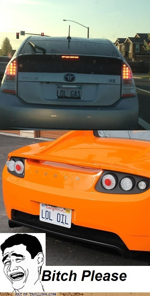 car,gas,IRL,license plate,oil,tesla