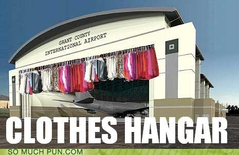 clothes,hangar,hanger,literalism,similar sounding