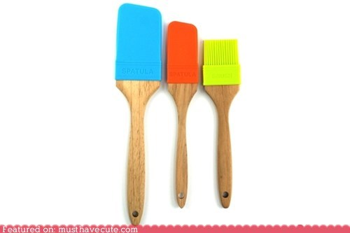 cooking kitchen neon paintbrushes plastic utensils