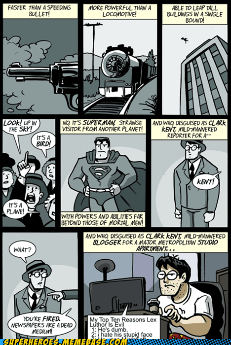 Awesome Art blogger Clark Kent news reporter superman - 6046988544