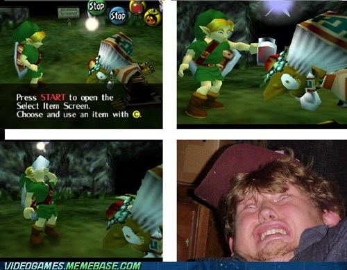 c button comic link nintendo 64 potion drinking zelda - 6047006720