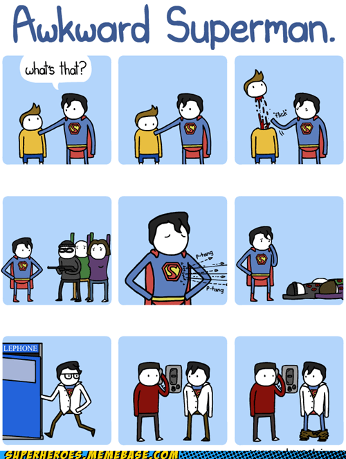 Awesome Art Awkward pranks superheroes superman - 6047263488