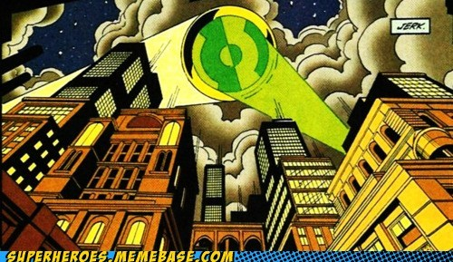 Bat signal,Green lantern,ring,Straight off the Page