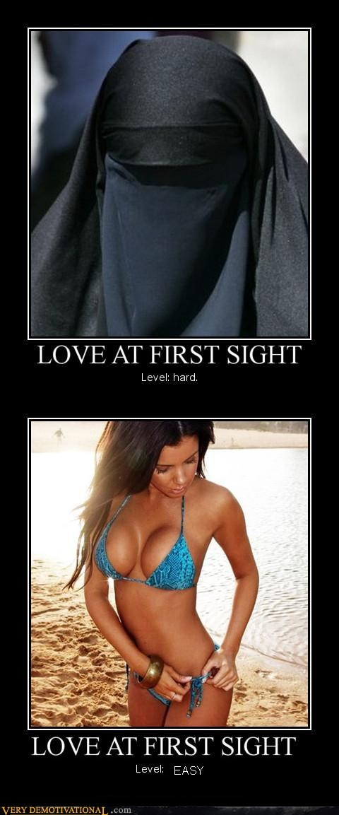 burka,easy,first sight,hard,hilarious,love