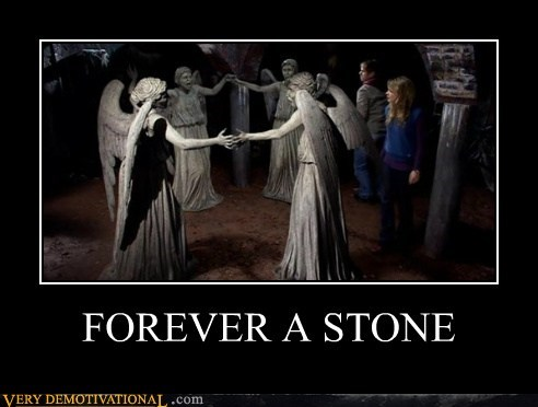 Angles,doctor who,forever alone,hilarious,statues