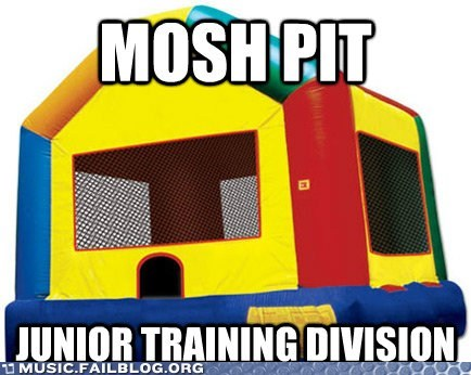 Bounce House children Hall of Fame kid mosh rave - 6048547072