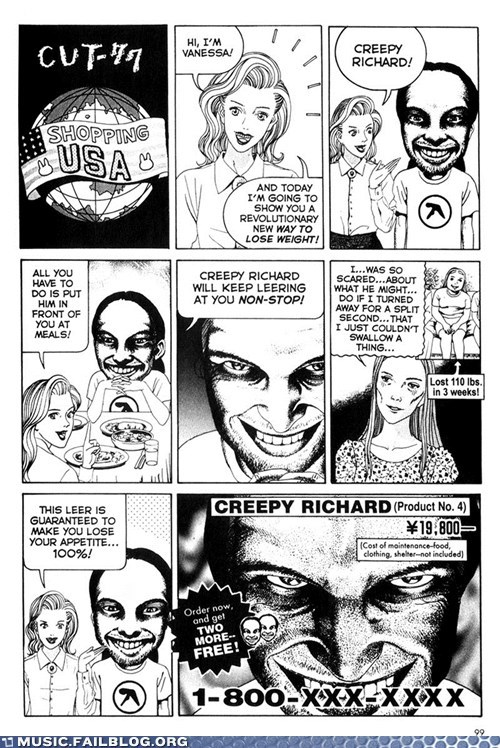 Aphex Twin,comic,diet,dieting,electronic,weight