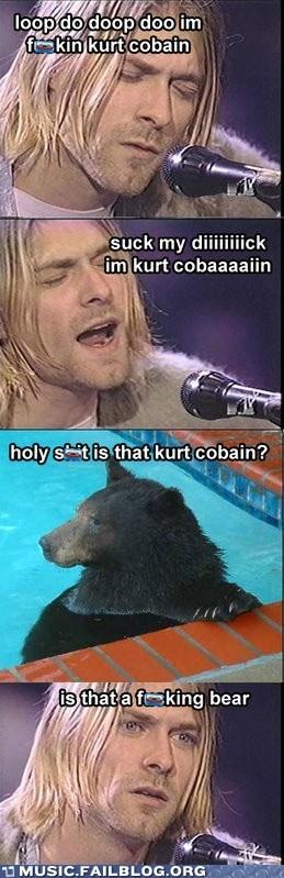 bear kurt cobain nirvana - 6048729856