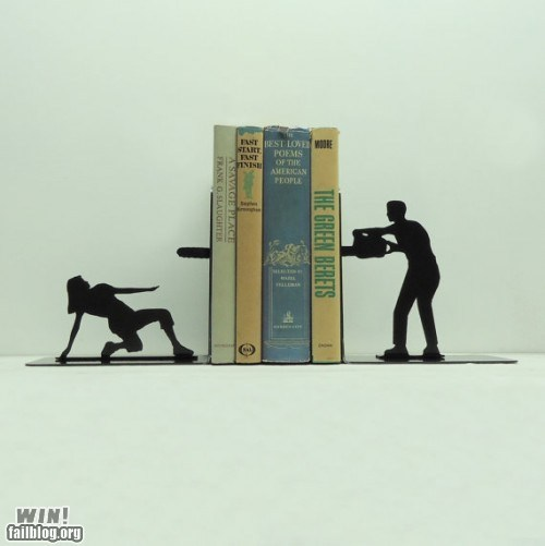bookend,chainsaw,design,reading is sexy