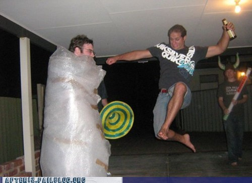 bubble wrap,dont-try-at-home,kick,Party,prank
