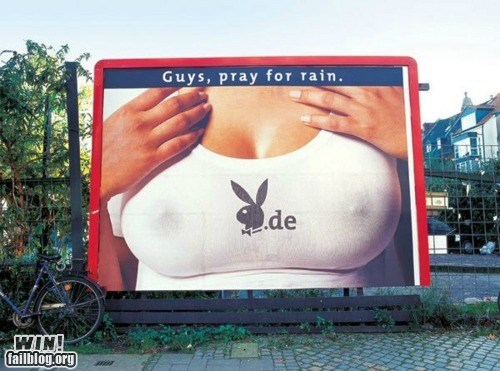 bewbs,billboard,clever,rain,sign