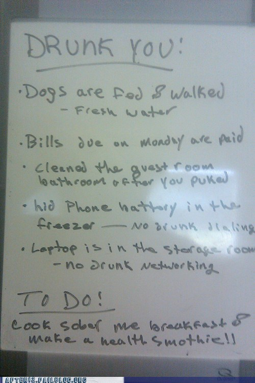 chores drunk hangover list note task - 6048856832