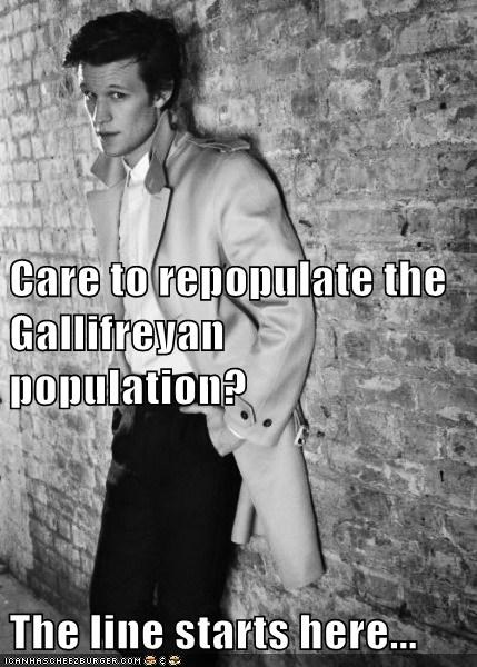 best of the week doctor who gallifrey line Matt Smith pickup line population repopulate suavé the doctor - 6048953344