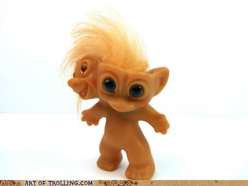 april fools Troll Doll two heads - 6049286144