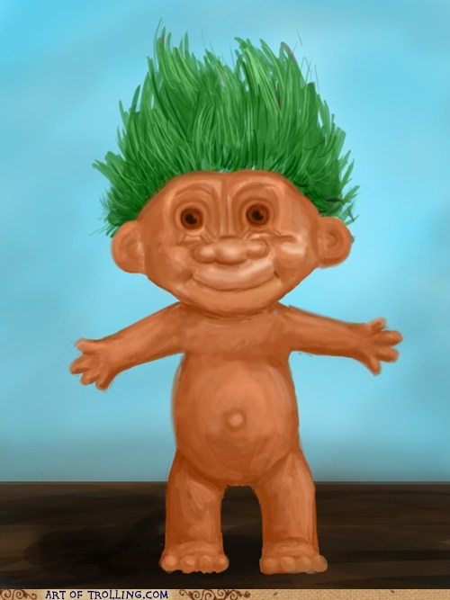 april fools art Troll Doll