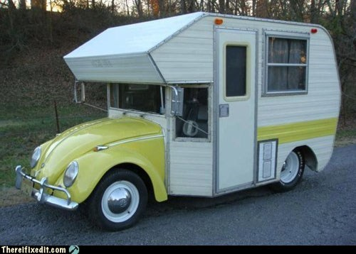 beetle,g rated,motorhome,rv,there I fixed it,volkswagen,VW
