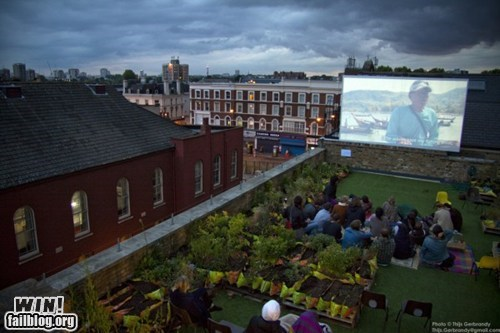 design movie theater outdoor rooftop theater