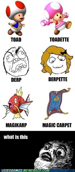derp,ette,girls,magicarp,the internets,toad,wordplay