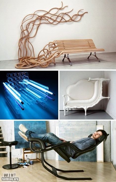 bench chair design furniture weird - 6049474304