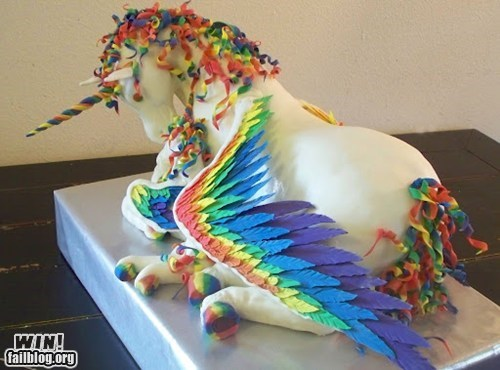 cake design food pretty colors unicorn - 6049479680
