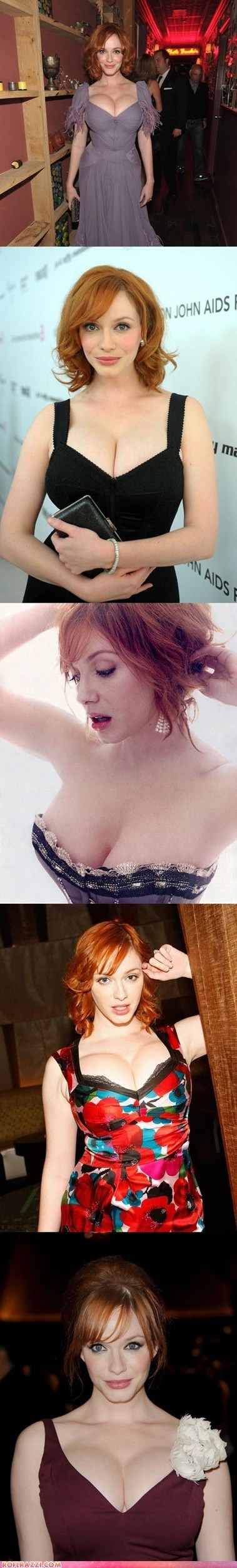 celeb Christina Hendricks dairy queen funny holiday sexy - 6049605120