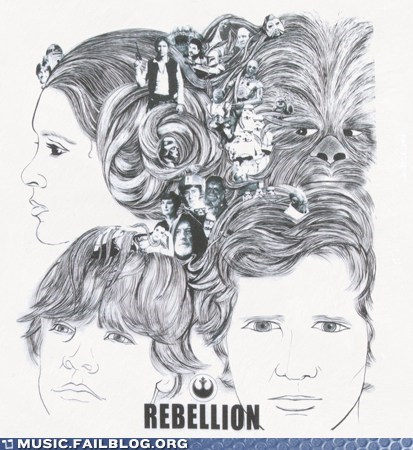 album cover,beatles,mashup,revolver,star wars,the Beatles