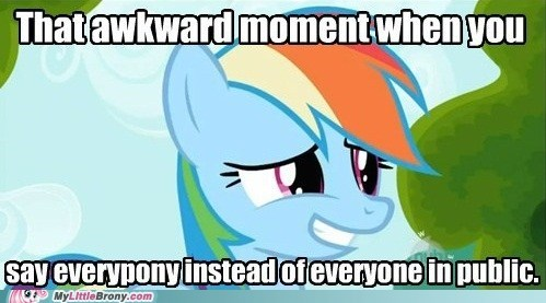 Awkward everypony in public meme rainbow dash - 6049734144