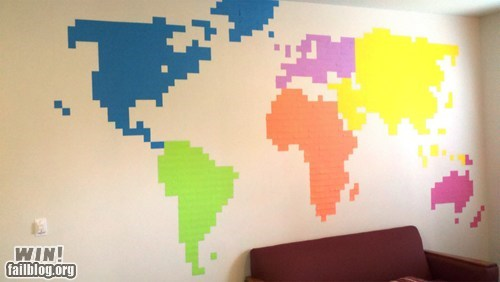 design,globe,map,post-it note