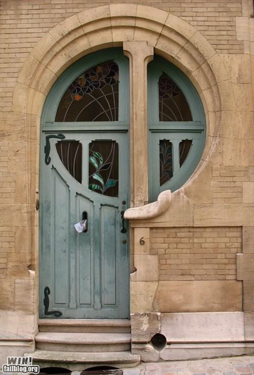 architecture art nouveau design door - 6049965312