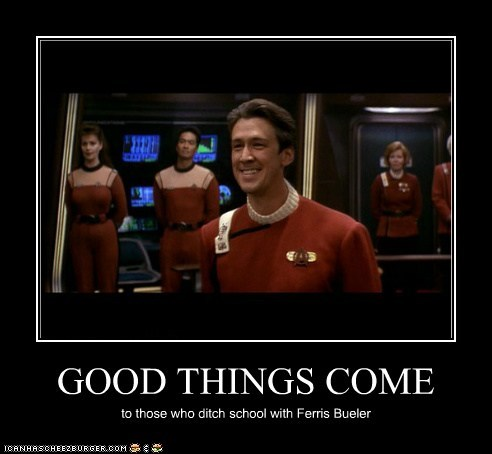 alan ruck captain john herriman ferris bueller generations good things Star Trek - 6049979392