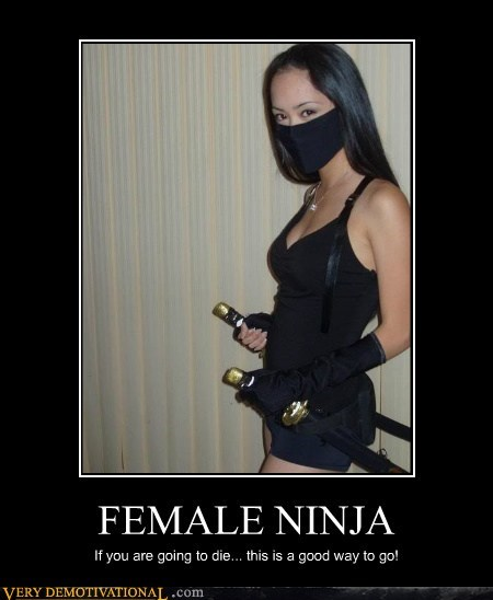 female hilarious ninja wtf