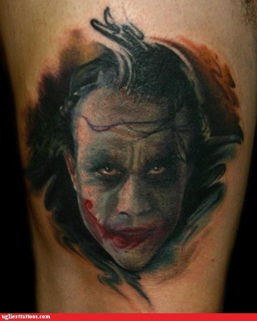 batman tattoo WIN the dark knight the joker