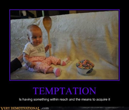 baby hilarious spoon temptation wtf
