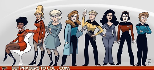 art,Star Trek,the original series,TNG,trek,women