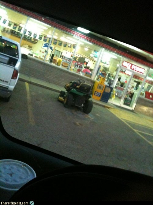 drunk driving,drunk mowing,dui,John Deere,lawn mower,mower car
