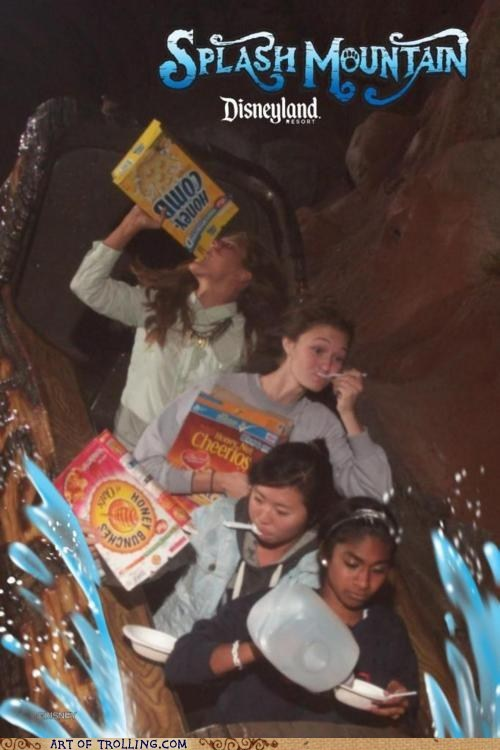 cereal,IRL,roller coaster,splash mountain