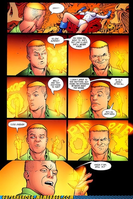 guy gardner,power girl,Straight off the Page,yellow ring