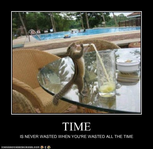 TIME IS NEVER WASTED WHEN YOU'RE WASTED ALL THE TIME