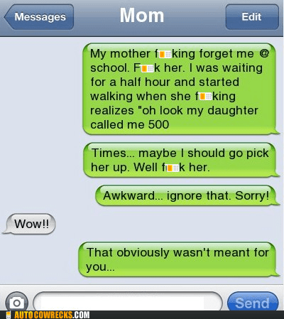 daughter forgetful mom parenting school wrong number - 6052129280